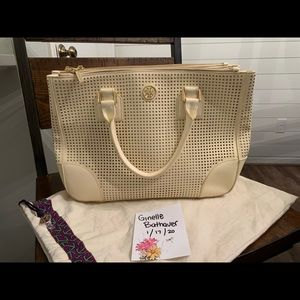 Tory Burch large perforated Robinson
